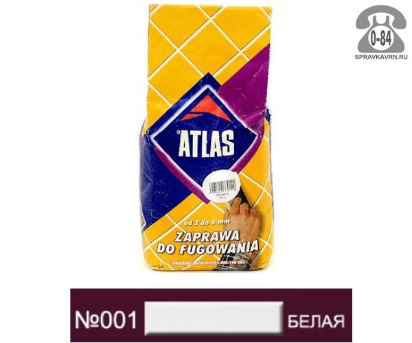 Затирка для швов плитки Атлас (Atlas) 2 кг белый