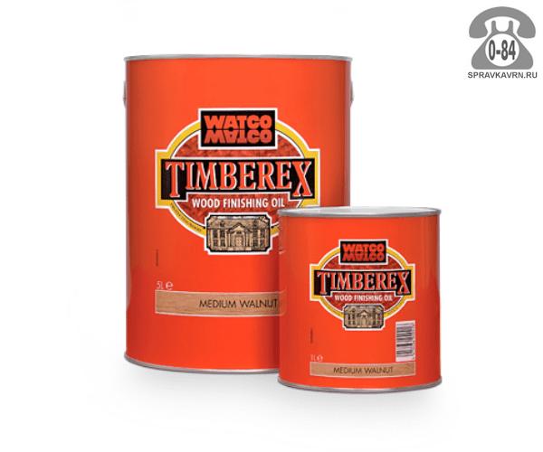 Пропитка Тимберекс (Timberex) масло для дерева защитно-красящий состав 1 л темный орех для внутренних работ Великобритания