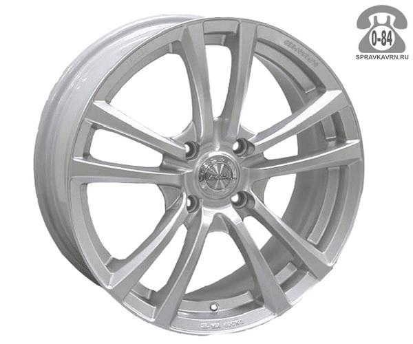 """Диск РВ (Racing Wheels) H-131 15"""" ширина 6.5"""" крепежных отверстий 4 диаметр расположения отверстий 114.3 мм вылет колеса (ET) 45 мм диаметр центрального отверстия 73.1 мм"""