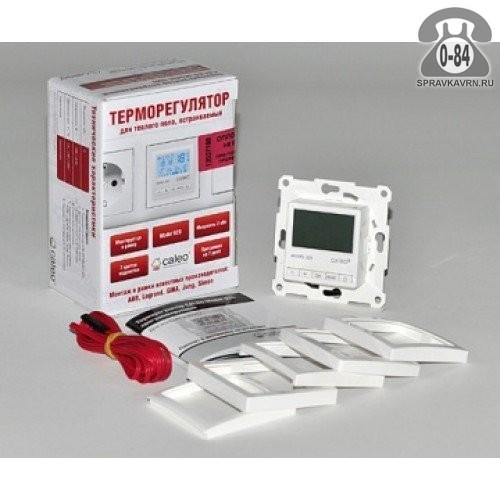 Терморегулятор для тёплого пола Калео (Caleo) 920 с адаптерами программируемый кнопочный белый выносной 2 м 0-+40 Корея, республика (Южная Корея)