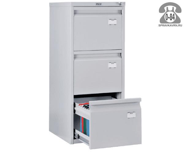 Шкаф картотечный металлический Практик А-43