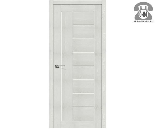 Межкомнатная деревянная дверь ЭльПорта, фабрика (el PORTA) Порта-29 Magic Fog остеклённая 80см, цвет: бьянко вералинга (bianco veralinga)
