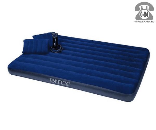 Кровать надувная Интекс (Intex) Royal Blue Queen 68765, 203x152x22см