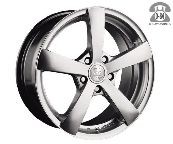 """Диск РВ (Racing Wheels) H-337 14"""" ширина 6"""" крепежных отверстий 4 диаметр расположения отверстий 100 мм вылет колеса (ET) 38 мм диаметр центрального отверстия 67.1 мм"""