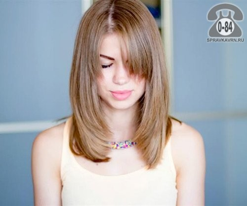 Стрижки волос лесенка средней длины