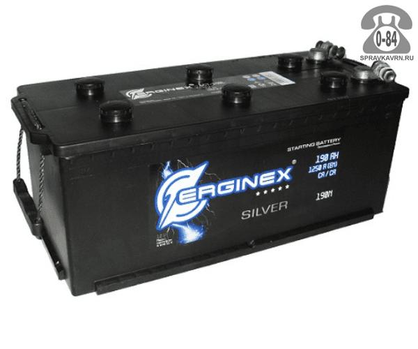 Аккумулятор для транспортного средства Эрджинекс (Erginex) 6СТ-190 обратная полярность 513*223*223 мм