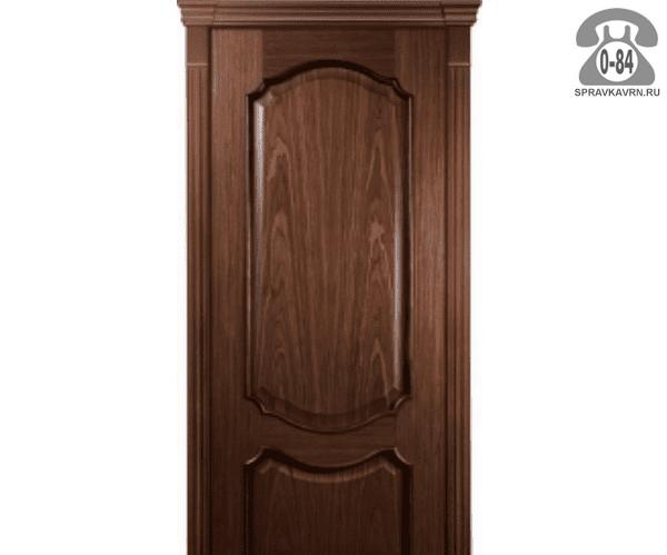 Межкомнатная деревянная дверь Левша, фабрика Верона глухая (без стекла) 70 см кофейная