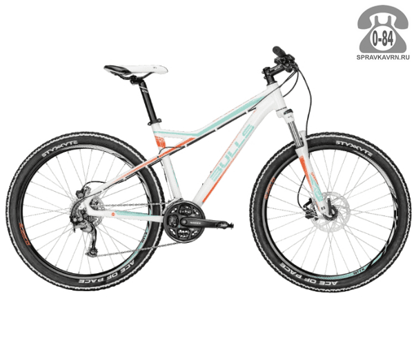 "Велосипед Буллс (Bulls) Zarena 27,5, рама 18,5' (2016) размер рамы 18.5"" белый"