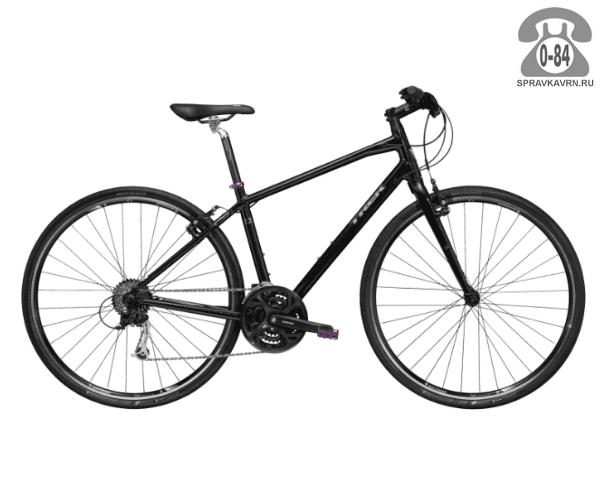 """Велосипед Трек (Trek) 7.3 FX WSD (2016), рама 17.5"""" размер рамы 17.5"""" черный"""