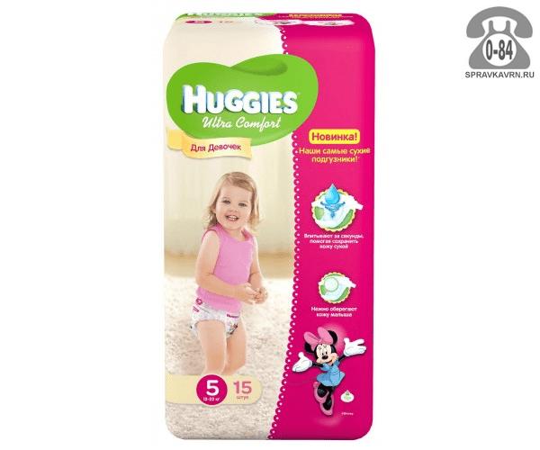 Подгузники для детей Хаггис (Huggies) Ultra Comfort Girl 12-22 кг (15) 12-22, 15шт.
