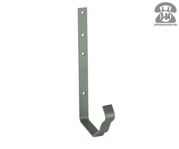 Кронштейн жёлоба водосточной системы квадратный стальной оцинкованный
