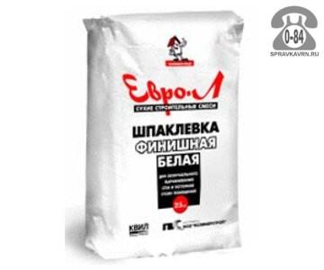 Шпаклёвка Евро-Л полимерная финишная мешок 18 кг белая Россия