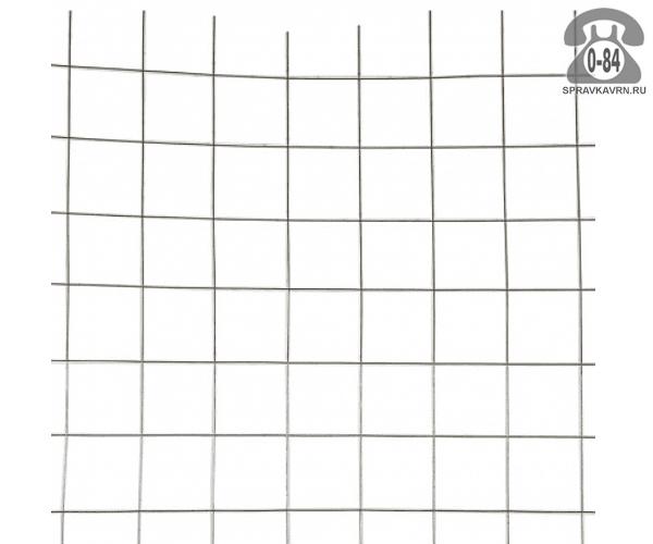 Сетка строительная сварная сталь неоцинкованная 2.6 мм 100 мм 110 мм 2 м 3 м