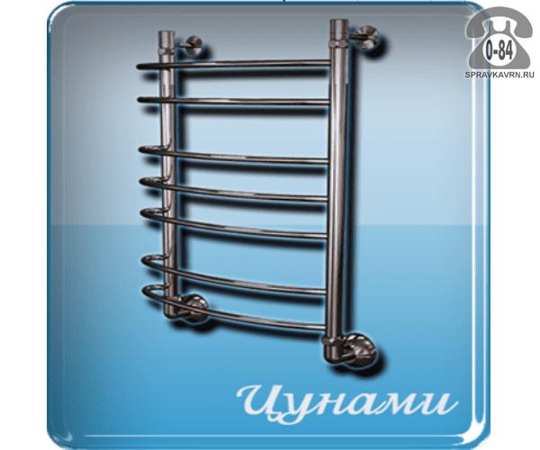 Полотенцесушитель Маргроид Цунами без полочек горячая вода (водяной) 500x800 мм