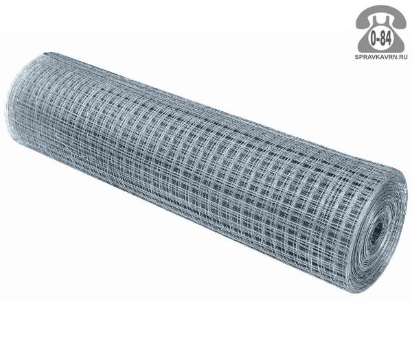 Строительная сетка диаметр 1.8мм  ячейка 50x50мм ширина 1.5м