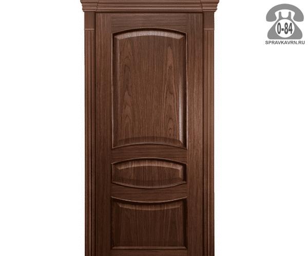 Межкомнатная деревянная дверь Левша, фабрика Алина глухая (без стекла) 80 см шоколадная