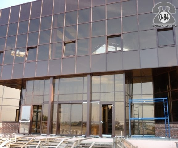 Фасад здания - остекление витражное алюминиевый