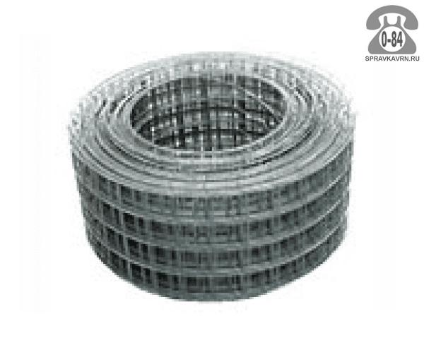 Строительная сетка диаметр 3мм  ячейка 75x50мм ширина 0.35м
