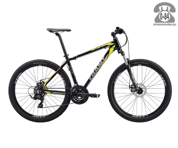 """Велосипед Джайнт (Giant) ATX 2 (2017), рама 22.5"""", черный размер рамы 22.5"""" черный"""