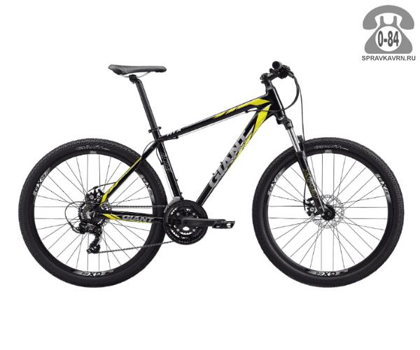 """Велосипед Джайнт (Giant) ATX 2 (2017), рама 18.5"""", черный размер рамы 18.5"""" черный"""