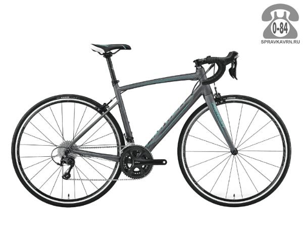 "Велосипед Мерида (Merida) Ride 400-Juliet (2017) размер рамы 21"" серый"