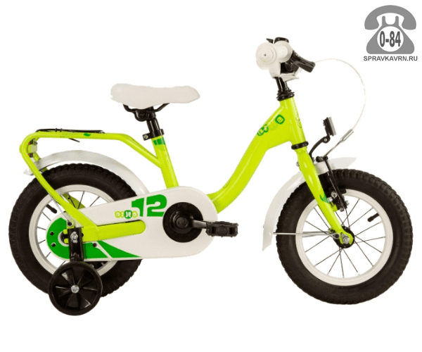 Велосипед Скул (Scool) nixe 12 alloy (2017), зеленый