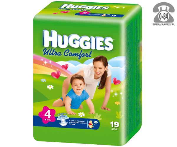 Подгузники для детей Хаггис (Huggies) Ultra Comfort 8-14 кг (19) 8-14, 19шт.