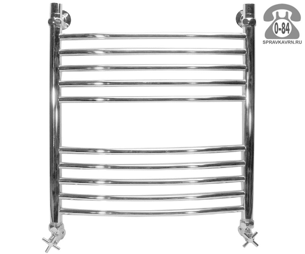 Полотенцесушитель Ника ARC ЛД внутренняя резьба 500x600мм без полочек горячая вода (водяной)