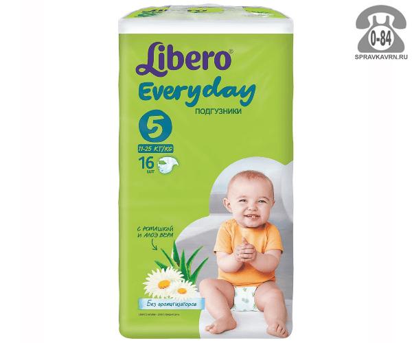 Подгузники для детей Либеро (Libero) Everyday XL (16) 11-25, 16шт.