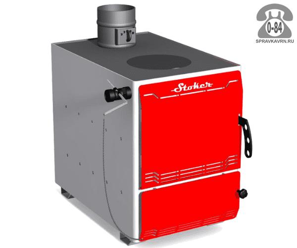 Отопительная печь Ермак Stoker Aqua 12-ПЭ 120м3 12кВт, 410x590мм