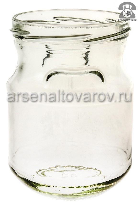 Банка стеклянная Твист-82 горшочек 0.44 л