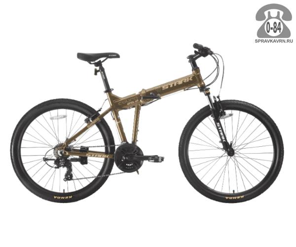 "Велосипед Старк (Stark) Cobra 26.2 V (2017), рама 18"" размер рамы 18"" коричневый"