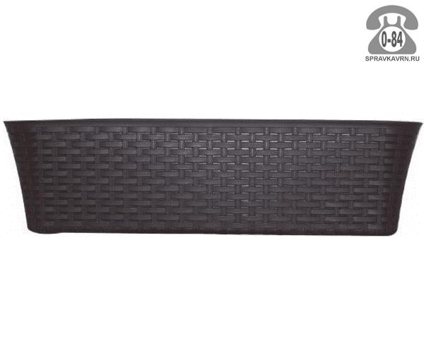Балконный ящик Идея (Idea) Ротанг 60x57x16, коричневый