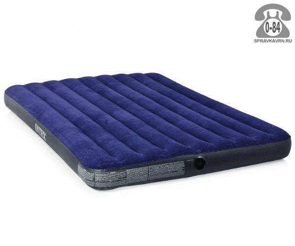 Кровать надувная Интекс (Intex) CLASSIC DOWNY 68759, 203х152х22см, флок