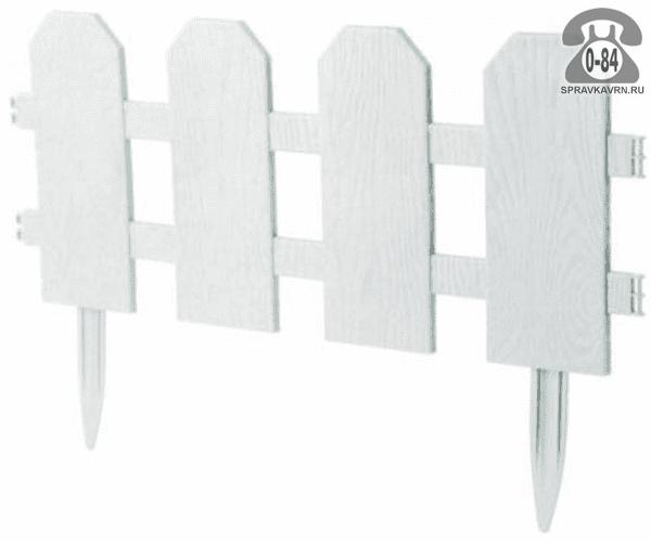 Бордюр садовый Идея (Idea) Классика, 299x25 см, белый
