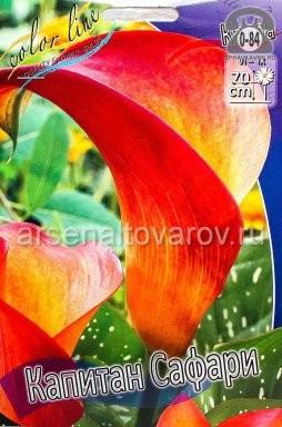 Посадочный материал цветов калла (белокрыльник) Капитан Сафари многолетник клубень 2 шт. Нидерланды (Голландия)