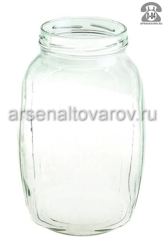 Банка стеклянная Твист-100 кубышка 3 л
