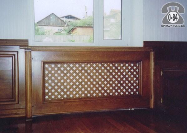 Экран для радиатора отопления массив дерева