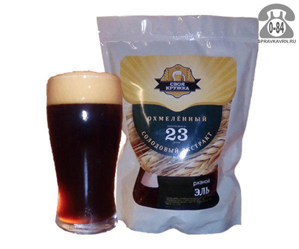 Экстракт солодовый для мини-пивоварен Своя Кружка Ржаной Эль Охмеленный 23 л Россия