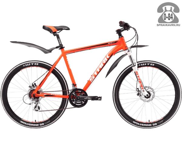 """Велосипед Старк (Stark) Router 26.3 D (2017), рама 18.5"""" размер рамы 18.5"""" оранжевый"""