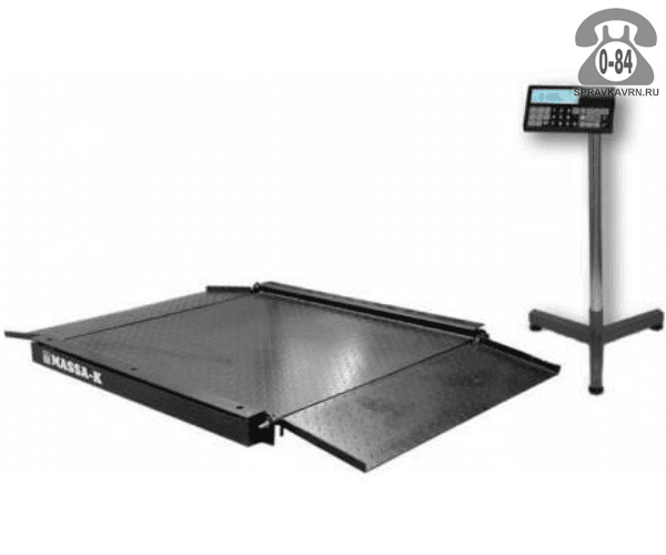 Весы товарные 4D-LA-4-1000 платформа 1500*1200мм 1000кг точность 200г