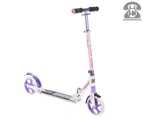 Самокат Teach Team TT-210 Lux, цвет: фиолетовый, белый, розовый S-TT-210L-P