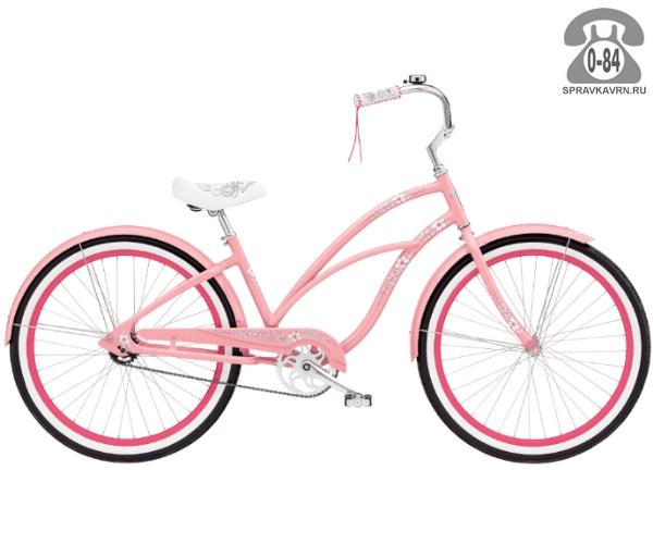 "Велосипед Электра (Electra) Cruiser Hawaii 3i Ladies (2016) размер рамы 17"" розовый"