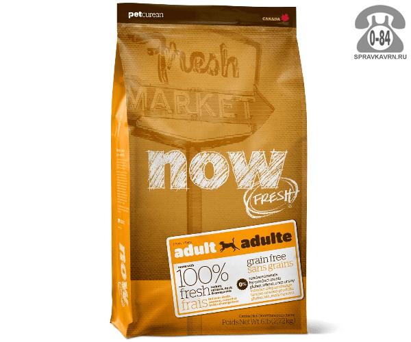Корм для животных Ноу (Now!) Для взрослых собак, беззерновой, с индейкой, уткой и овощами (11,3 кг) 10123 с индейкой, уткой и овощами