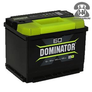 Аккумулятор для транспортного средства Доминатор (Dominator) 6СТ-60 12 В 60 А*час прямая 242*175*190 15.5 кг легковой Россия