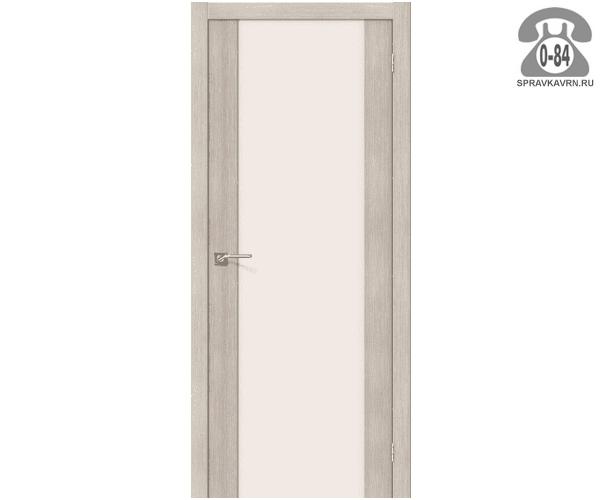 Межкомнатная деревянная дверь ЭльПорта, фабрика (el PORTA) Порта-13 Magic Fog остеклённая 60 см бьянко вералинга (bianco veralinga)