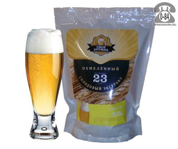 Экстракт солодовый для мини-пивоварен Своя Кружка Светлый Эль Охмеленный 23 л Россия