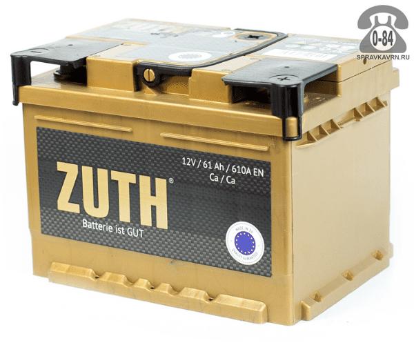 Аккумулятор для транспортного средства Зуф (Zuth) 6СТ-61 прямая полярность 242*175*190 мм