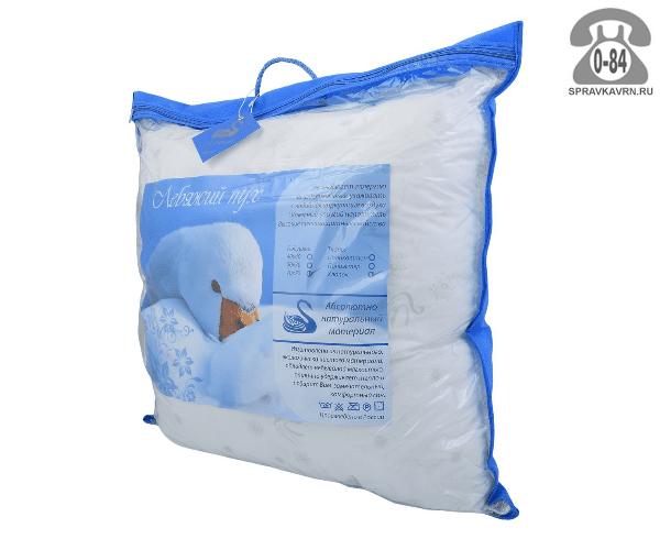 Подушка лебяжий пух искусственный тик 70 см 70 см Россия
