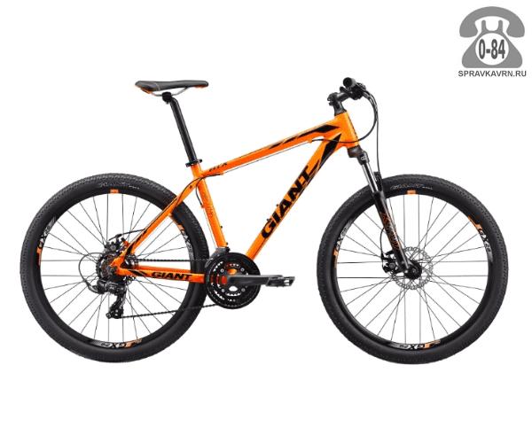 "Велосипед Джайнт (Giant) ATX 2 (2017), рама 18.5"", оранжевый размер рамы 18.5"" оранжевый"